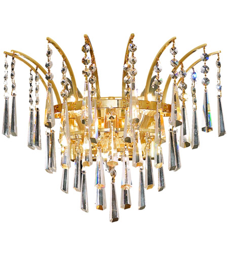 Elegant Lighting 8032W16G/EC Victoria 3 Light 16 inch Gold Wall Sconce Wall Light in Elegant Cut photo
