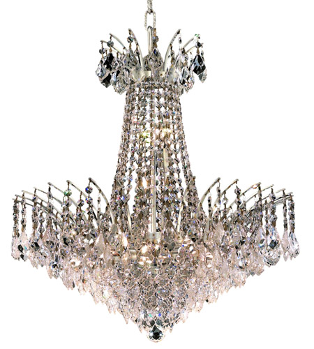 Elegant Lighting Victoria 11 Light Dining Chandelier in Chrome with Swarovski Strass Clear Crystal 8033D24C/SS photo