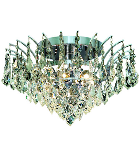 Elegant Lighting Victoria 6 Light Flush Mount in Chrome with Spectra Swarovski Clear Crystal 8033F16C/SA photo