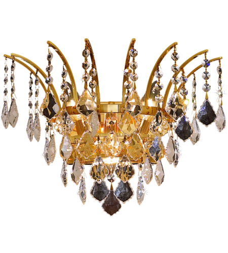 Elegant Lighting Victoria 3 Light Wall Sconce in Gold with Spectra Swarovski Clear Crystal 8033W16G/SA photo