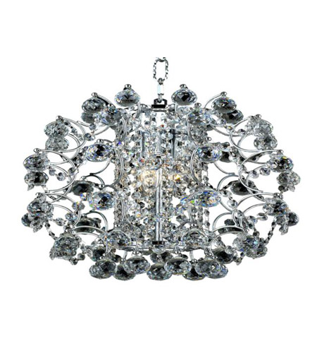 Elegant Lighting St. Ives 3 Light Chandelier in Chrome with Strass Swarovski Clear Crystals 8064D14C/SS photo