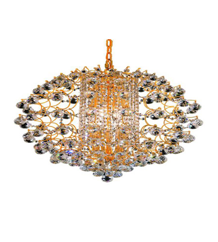Elegant Lighting St. Ives 12 Light Chandelier in Gold with Royal Cut Clear Crystals 8064D24G/RC photo