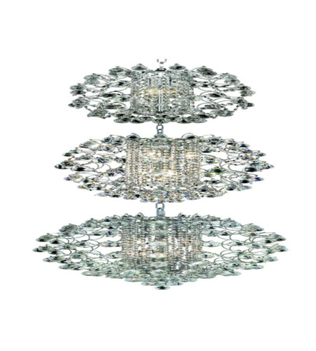 Elegant Lighting St. Ives 21 Light Chandelier in Chrome with Strass Swarovski Clear Crystals 8064G24C/SS photo