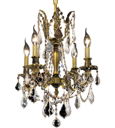 Elegant Lighting Rosalia 4 Light Dining Chandelier in Antique Bronze with Spectra Swarovski Clear Crystal 9204D17AB/SA photo