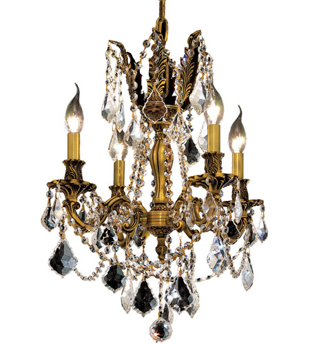 Elegant Lighting Rosalia 4 Light Dining Chandelier in French Gold with Royal Cut Clear Crystal 9204D17FG/RC photo