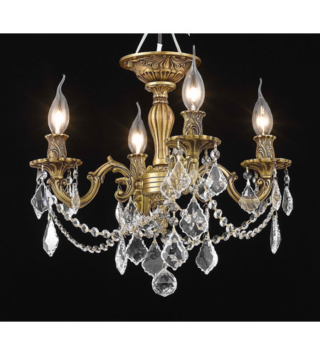 Elegant Lighting Rosalia 4 Light Flush Mount in French Gold with Royal Cut Clear Crystal 9204F17FG/RC photo