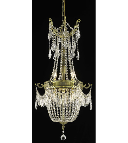Elegant Lighting Esperanza 6 Light Dining Chandelier in Antique Bronze with Spectra Swarovski Clear Crystal 9306D18AB/SA photo