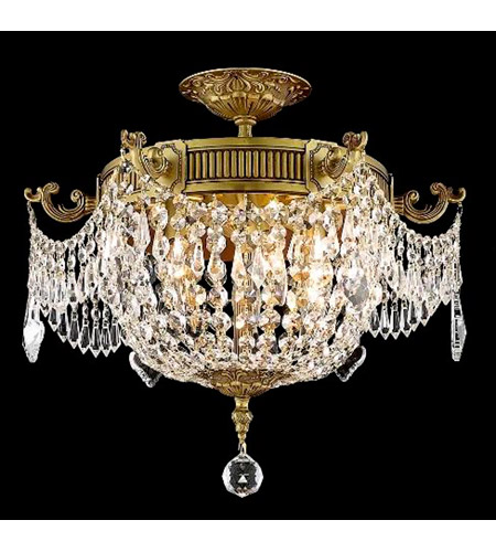 Elegant Lighting Esperanza 6 Light Flush Mount in French Gold with Spectra Swarovski Clear Crystal 9306F18FG/SA photo