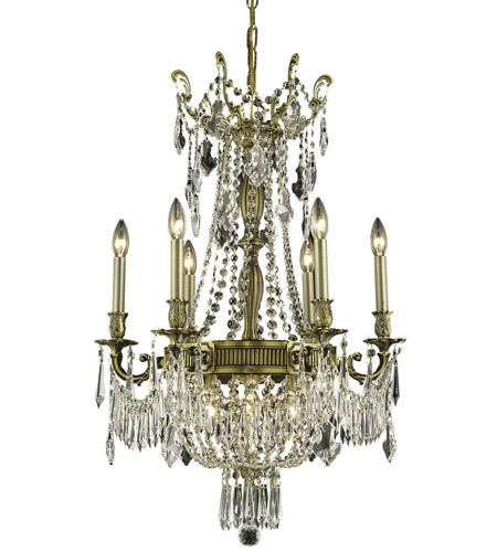 Elegant Lighting 9309D22AB/RC Esperanza 9 Light 22 inch Antique Bronze Dining Chandelier Ceiling Light in Royal Cut photo