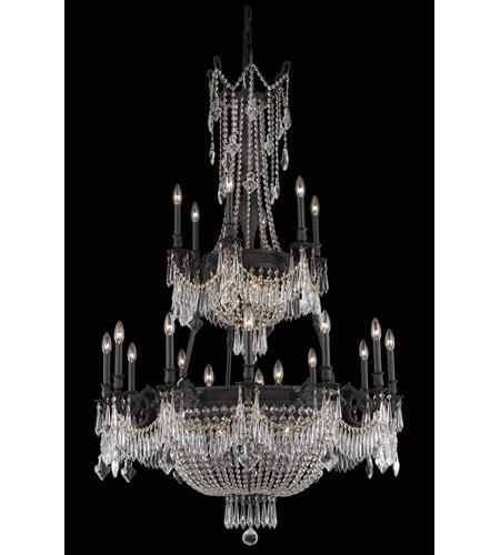 Elegant Foyer Chandelier : Elegant lighting esperanza light foyer in dark bronze