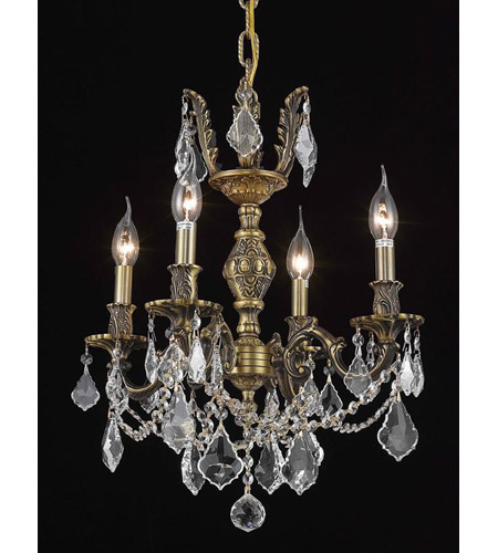 Elegant Lighting 9504D17AB/SA Marseille 4 Light 17 inch Antique Bronze Dining Chandelier Ceiling Light in Clear, Spectra Swarovski photo