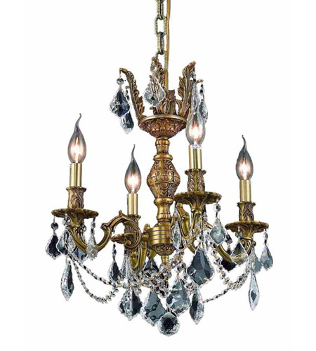 Elegant Lighting Marseille 4 Light Dining Chandelier in French Gold with Royal Cut Clear Crystal 9504D17FG/RC photo