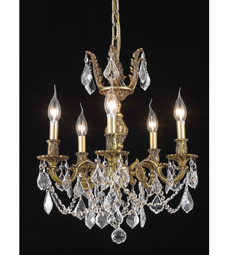 Elegant Lighting Marseille 5 Light Dining Chandelier in French Gold with Royal Cut Clear Crystal 9505D18FG/RC photo