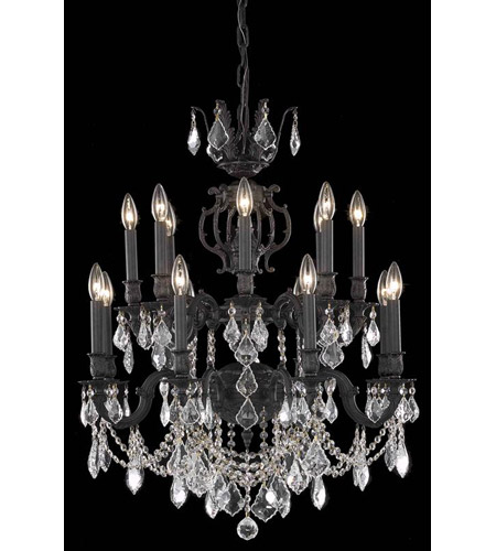 Elegant Lighting 9516D28DB/EC Marseille 16 Light 28 inch Dark Bronze Dining Chandelier Ceiling Light in Clear, Elegant Cut photo