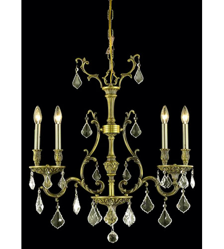Elegant Lighting 9604D26AB-GS/RC Monarch 4 Light 6 inch Antique Bronze Dining Chandelier Ceiling Light photo
