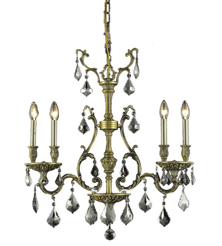 Elegant Lighting 9604D26AB-SS/SS Monarch 4 Light 6 inch Antique Bronze Dining Chandelier Ceiling Light photo