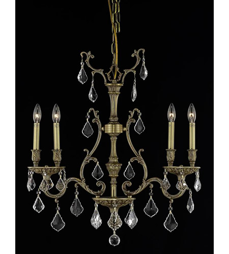 Elegant Lighting Monarch 4 Light Dining Chandelier in French Gold with Swarovski Strass Clear Crystal 9604D26FG/SS photo