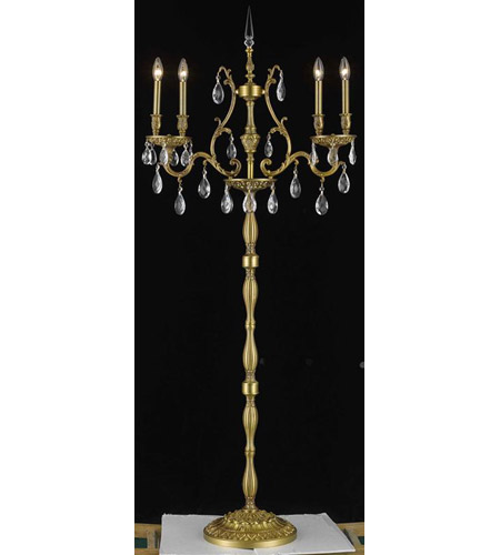 Elegant Lighting Monarch 4 Light Floor Lamp in French Gold with Elegant Cut Clear Crystal 9604FL26FG/EC photo
