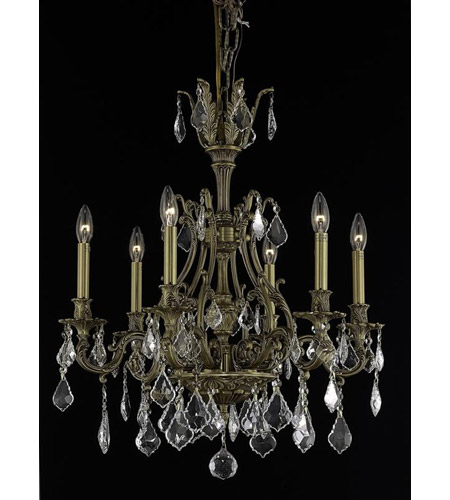 Elegant Lighting Monarch 6 Light Dining Chandelier in French Gold with Swarovski Strass Clear Crystal 9606D24FG/SS photo