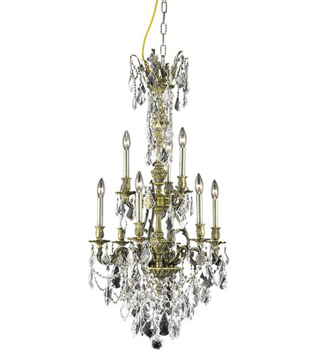 Elegant Lighting Monarch 9 Light Dining Chandelier in Antique Bronze with Swarovski Strass Clear Crystal 9609D21AB/SS photo