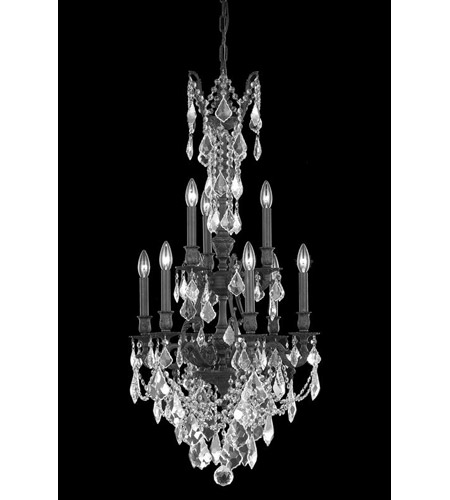 Elegant Lighting Monarch 9 Light Dining Chandelier in Dark Bronze with Spectra Swarovski Clear Crystal 9609D21DB/SA photo
