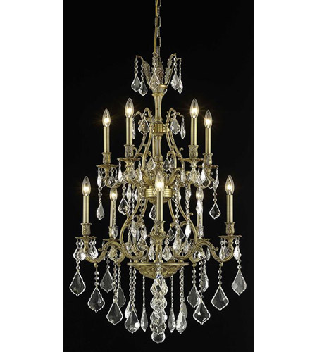 Elegant Lighting Monarch 10 Light Dining Chandelier in French Gold with Swarovski Strass Clear Crystal 9610D26FG/SS photo