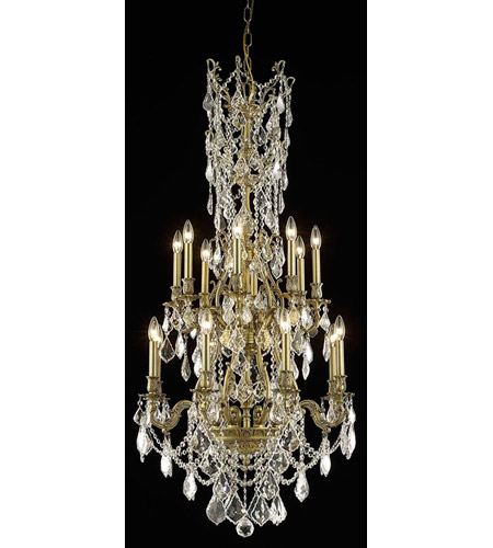 Elegant Lighting Monarch 16 Light Dining Chandelier in French Gold with Swarovski Strass Clear Crystal 9616D27FG/SS photo