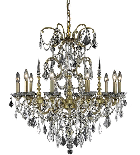 Elegant Lighting Athena 10 Light Dining Chandelier in French Gold with Spectra Swarovski Clear Crystal 9710D30FG/SA photo