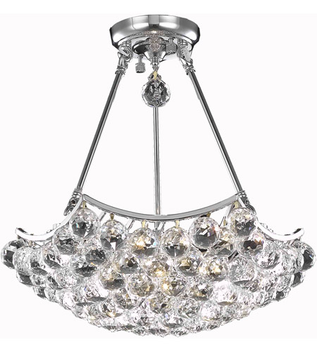 Elegant Lighting 9802D18C/RC Corona 8 Light 18 inch Chrome Dining Chandelier Ceiling Light in Royal Cut photo