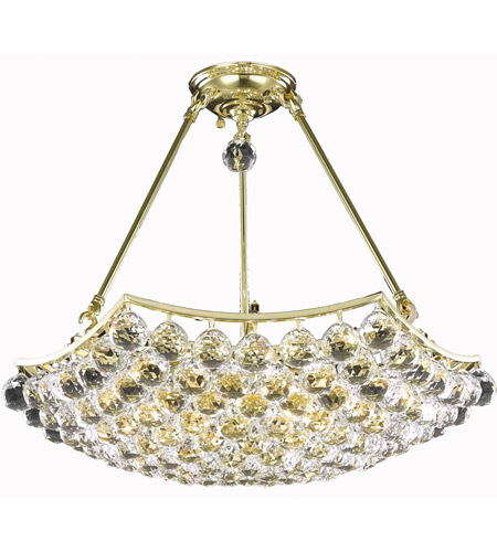 Elegant Lighting 9802D22G/EC Corona 10 Light 22 inch Gold Dining Chandelier Ceiling Light in Elegant Cut photo