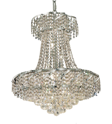Elegant Lighting Belenus 11 Light Dining Chandelier in Chrome with Swarovski Strass Clear Crystal ECA1D22C/SS photo
