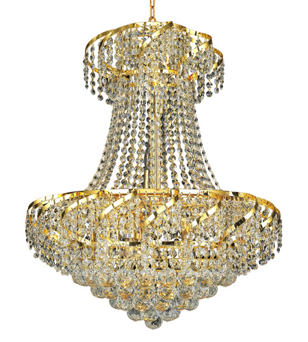 Elegant Lighting Belenus 11 Light Dining Chandelier in Gold with Spectra Swarovski Clear Crystal ECA1D22G/SA photo