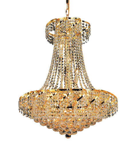 Elegant Lighting Belenus 15 Light Dining Chandelier in Gold with Elegant Cut Clear Crystal ECA1D26G/EC photo