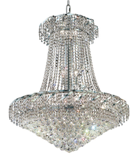 Elegant Lighting VECA1D30C/RC Belenus 18 Light 30 inch Chrome Dining Chandelier Ceiling Light in Royal Cut photo