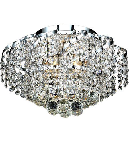 Elegant Lighting Belenus 6 Light Flush Mount in Chrome with Royal Cut Clear Crystal ECA1F16C/RC photo
