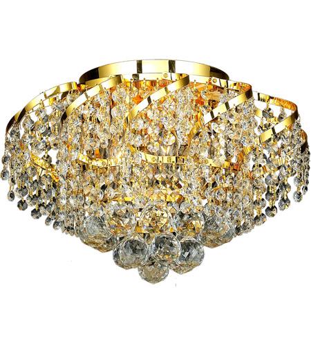 Elegant Lighting Belenus 6 Light Flush Mount in Gold with Elegant Cut Clear Crystal ECA1F16G/EC photo
