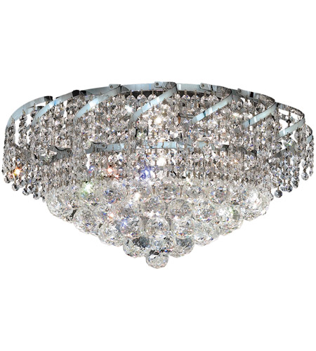 Elegant Lighting VECA1F20C/RC Belenus 8 Light 20 inch Chrome Flush Mount Ceiling Light in Royal Cut photo