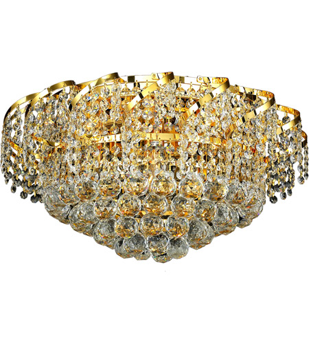 Elegant Lighting VECA1F20G/SA Belenus 8 Light 20 inch Gold Flush Mount Ceiling Light in Spectra Swarovski photo