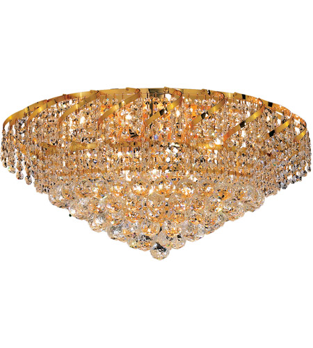 Elegant Lighting VECA1F26G/RC Belenus 10 Light 26 inch Gold Flush Mount Ceiling Light in Royal Cut photo