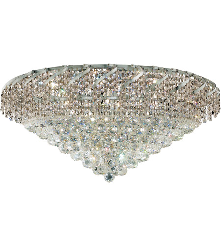 Elegant Lighting ECA1F30C/SS Belenus 12 Light 30 inch Chrome Flush Mount Ceiling Light in Swarovski Strass photo