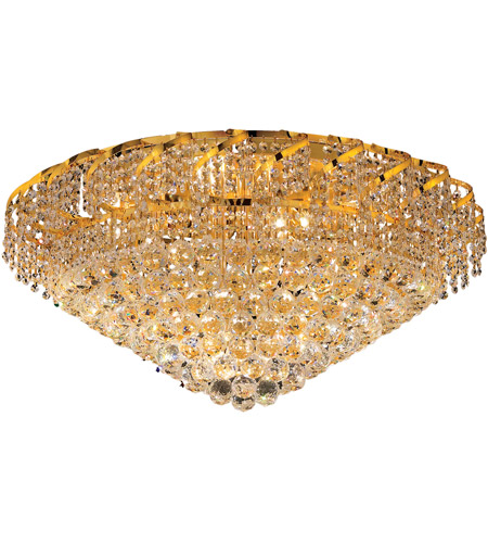 Elegant Lighting VECA1F30G/SS Belenus 12 Light 30 inch Gold Flush Mount Ceiling Light in Swarovski Strass photo