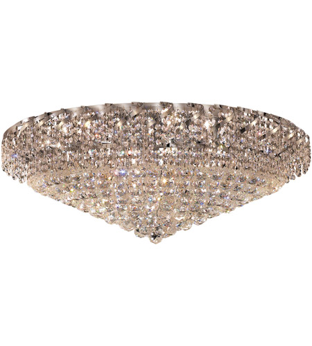 Elegant Lighting Belenus 28 Light Flush Mount in Chrome with Elegant Cut Clear Crystal ECA1F36C/EC photo