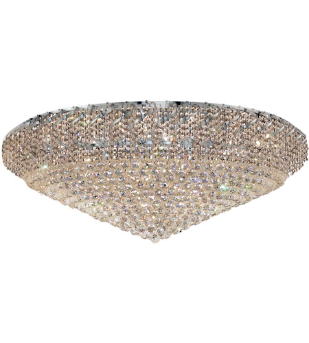 Elegant Lighting ECA1F48C/SA Belenus 36 Light 48 inch Chrome Flush Mount Ceiling Light in Spectra Swarovski photo