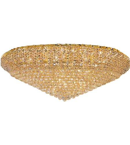 Elegant Lighting VECA1F48G/EC Belenus 36 Light 48 inch Gold Flush Mount Ceiling Light in Elegant Cut photo