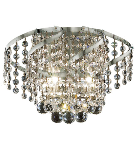 Elegant Lighting Belenus 2 Light Wall Sconce in Chrome with Swarovski Strass Clear Crystal ECA1W12C/SS photo