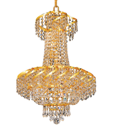 Elegant Lighting ECA2D18G/RC Belenus 6 Light 18 inch Gold Dining Chandelier Ceiling Light in Royal Cut photo