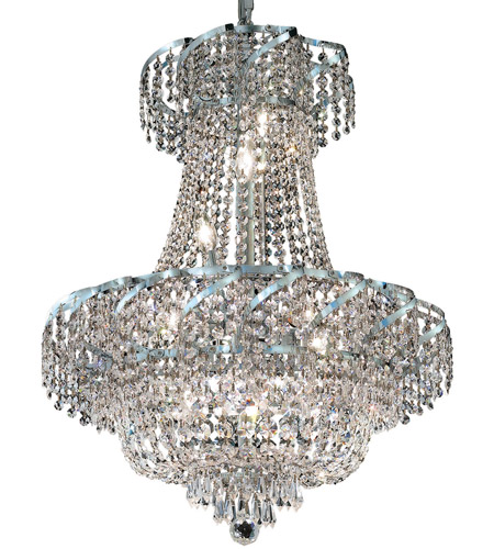 Elegant Lighting ECA2D22C/SS Belenus 11 Light 22 inch Chrome Dining Chandelier Ceiling Light in Swarovski Strass photo