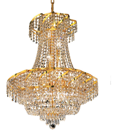 Elegant Lighting ECA2D22G/SS Belenus 11 Light 22 inch Gold Dining Chandelier Ceiling Light in Swarovski Strass photo