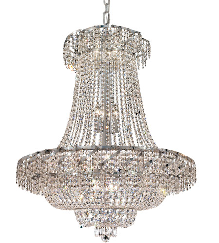 Elegant Lighting ECA2D30C/EC Belenus 18 Light 30 inch Chrome Dining Chandelier Ceiling Light in Elegant Cut photo