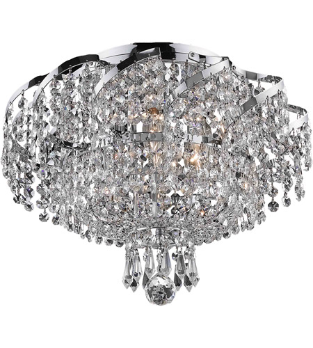 Elegant Lighting Belenus 6 Light Flush Mount in Chrome with Royal Cut Clear Crystal ECA2F16C/RC photo